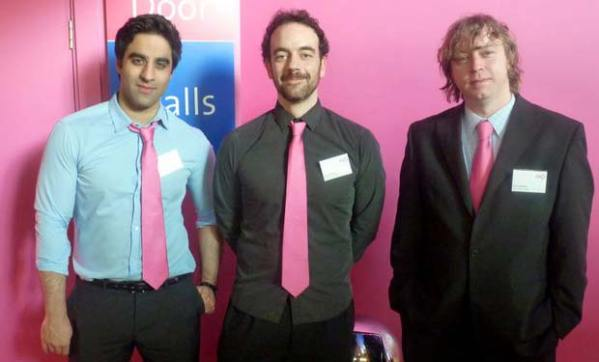Irfan, Greg and Steve from our New Media team at the event