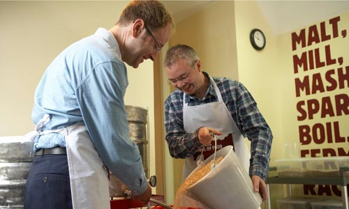 Mick McGrath (left) and Peter Wanless at Tideswell School of Food