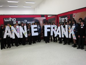 Anne Frank Young Ambassadors taking part in letters project