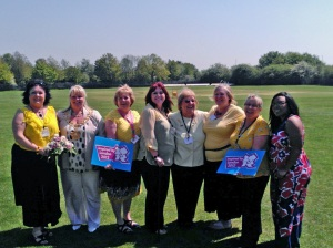 Members of The Wakefield & District Fibromyalgia Support Group pictured with the Mayor of Wakefield