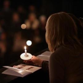 Carol service candles
