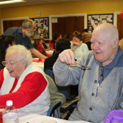 Older people eating at a friendship club