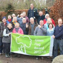 The Friends of Walkden Gardens celebrate their Green Flag Award