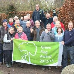 The Friends of Walkden Gardens celebrate their Green Flag Award