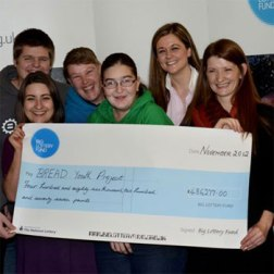 Cheque presentation to BREAD youth project