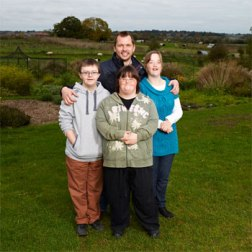 Jimmy Doherty pictured with Lucy, Sophie and Luke