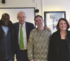 John Snow and project beneficiaries