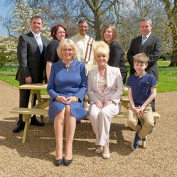 Big Lunch Patron, Her Royal Highness The Duchess of Cornwall pictured with Big Lunch award winners