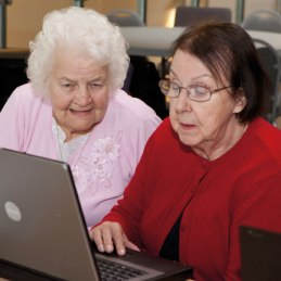 Older women use computer