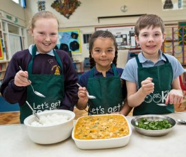 Pupils take part in a cooking club