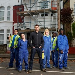 Architect George Clarke with young people