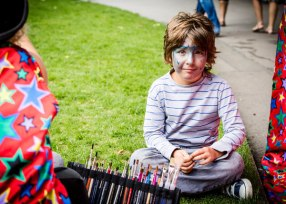 Face-painting at Love Parks Week launch event