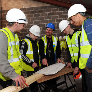 Young people are given the opportunity to learn skills from qualified
