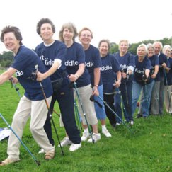 Older people take part in Fit as a Fiddle Nordic Walking project
