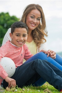 Megan Sweeney and son