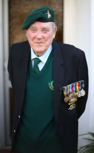 Irish veteran wearing uniform and medals in 2014