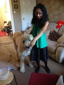 Nadira with Irish Wolfhound