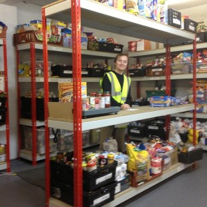 Food bank storeroom