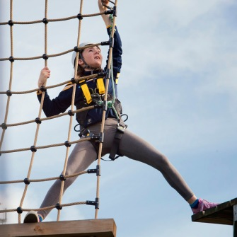 girl on assault course
