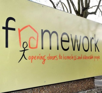 Photo of the Framework entrance sign